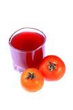 Tomato juice. Beautiful shot of tomato juice on white background Royalty Free Stock Photography