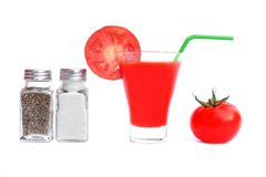 Tomato Juice or Bloody Mary. Cocktail isolated on white background Stock Photo