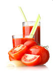 Tomato juice with celery Royalty Free Stock Photo