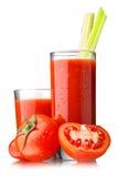 Tomato juice with celery Royalty Free Stock Image