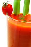 Tomato juice with celery stick Stock Image