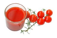 Tomato juice and cherry tomatoes Stock Photos