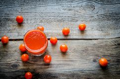 Tomato juice with cherry tomatoes Royalty Free Stock Photo