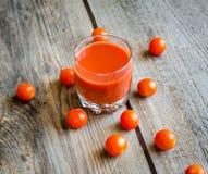 Tomato juice with cherry tomatoes Stock Photos