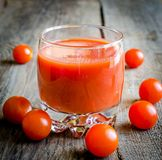 Tomato juice with cherry tomatoes Royalty Free Stock Image