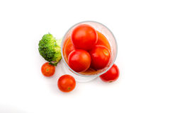 Tomato juice of cherry tomatoes with broccoli Royalty Free Stock Photography