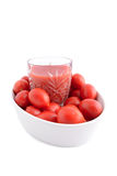 Tomato juice and cherry tomatoes Stock Photography