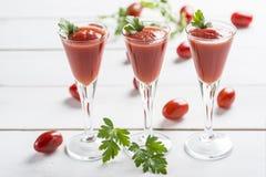 Tomato juice cocktails Stock Photos