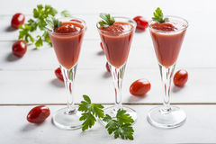 Tomato juice cocktails Royalty Free Stock Photography