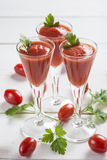 Tomato juice cocktails Royalty Free Stock Images