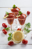 Tomato juice cocktails Stock Photography