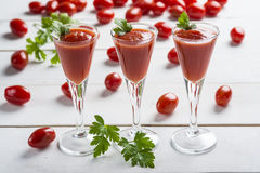 Tomato juice cocktails Stock Images