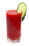 Tomato juice and cucumber Royalty Free Stock Image