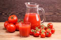 Tomato juice in a decante Royalty Free Stock Photo