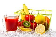 Tomato Juice. And fresh fruit Royalty Free Stock Images