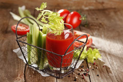 Tomato juice. Fresh and healthy tomato juice Royalty Free Stock Photos