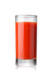 Tomato juice. Fresh tomato juice in highball glass isolated on white Royalty Free Stock Photos