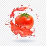 Tomato juice Fresh splash. Realistic icon Royalty Free Stock Photography