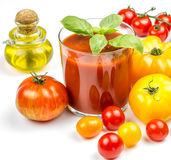Tomato Juice and Fresh Tomatoes Royalty Free Stock Images