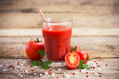 Tomato juice. In the glass Stock Images
