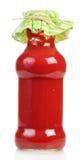 Tomato juice in glass bottle Stock Photo