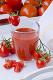 Tomato juice in a glass. Stock Image