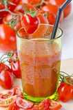 Tomato juice in a glass. Royalty Free Stock Image