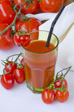Tomato juice in a glass. Royalty Free Stock Images