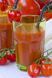 Tomato juice in a glass. Stock Images