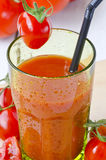 Tomato juice in a glass. Royalty Free Stock Photography