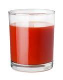 Tomato juice. Glass of tomato juice isolated on white Royalty Free Stock Photo