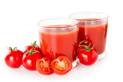 Tomato juice in a glass Royalty Free Stock Photos
