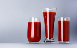 A glass of tomato juice isolated on white background with copy space, bloody Mary cocktail. Tomato juice in glass isolated on white background with copy space stock photo