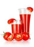 Tomato juice in a glass Royalty Free Stock Photo
