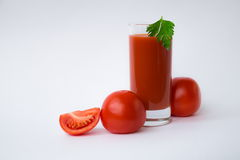 Tomato juice. Is good for health Royalty Free Stock Photo
