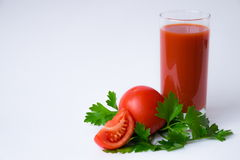 Tomato juice. Is good for health Royalty Free Stock Photos