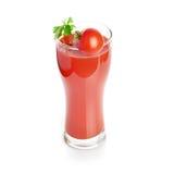 Tomato juice isolated on white Stock Photo