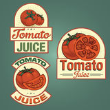 Tomato juice labels set Stock Image