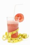 Tomato juice with measuring tape Stock Photos