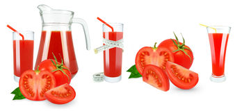 Tomato juice and meter Royalty Free Stock Photography