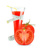Tomato juice and meter Stock Image