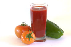 Tomato juice. Natural juice. Glass of fresh tomato juice Stock Images