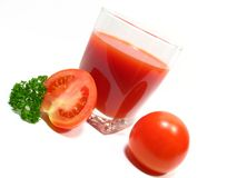 Tomato Juice and Parsley Royalty Free Stock Photo