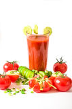 Tomato juice refreshing drink healthy drink summer drinks Stock Photo