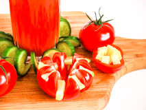 Tomato juice refreshing drink healthy drink summer drinks Royalty Free Stock Photography
