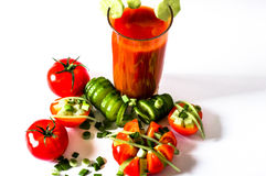 Tomato juice refreshing drink healthy drink summer drinks Royalty Free Stock Image