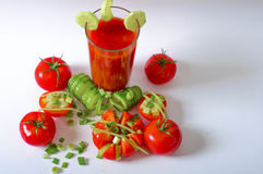 Tomato juice refreshing drink healthy drink summer drinks Stock Photography