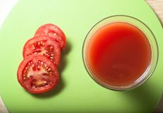 Tomato Juice and Slices from Above Royalty Free Stock Photo