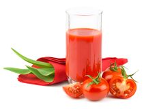Tomato juice with slices of tomato Royalty Free Stock Image
