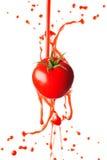 Tomato juice splashing Stock Image